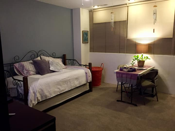 Large bedroom with direct access to bathroom