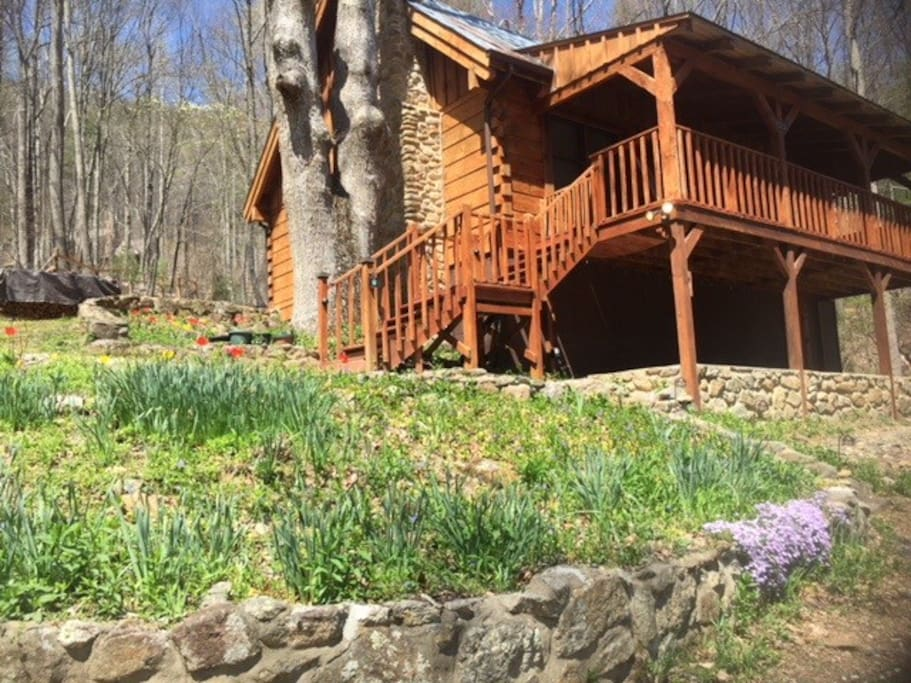 The cabin in early spring