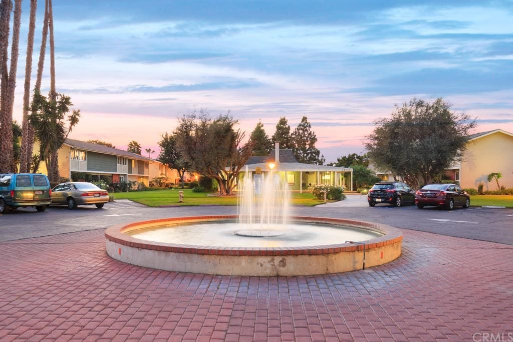 Front Community water fountain