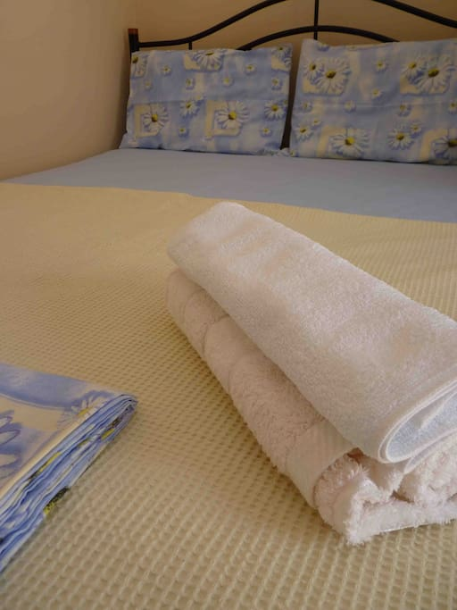 Clean towels and bedding for all our guests.