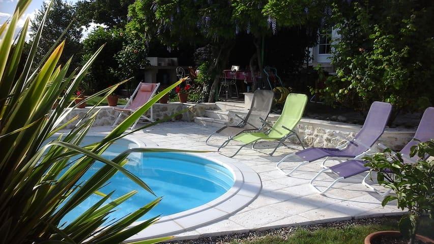 Calme champetre chambre rose Venise - Sainte-Bazeille - ที่พักพร้อมอาหารเช้า