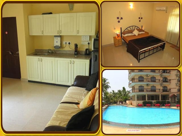 01) Luxury Serviced Apartment Close To The Sea - Baga