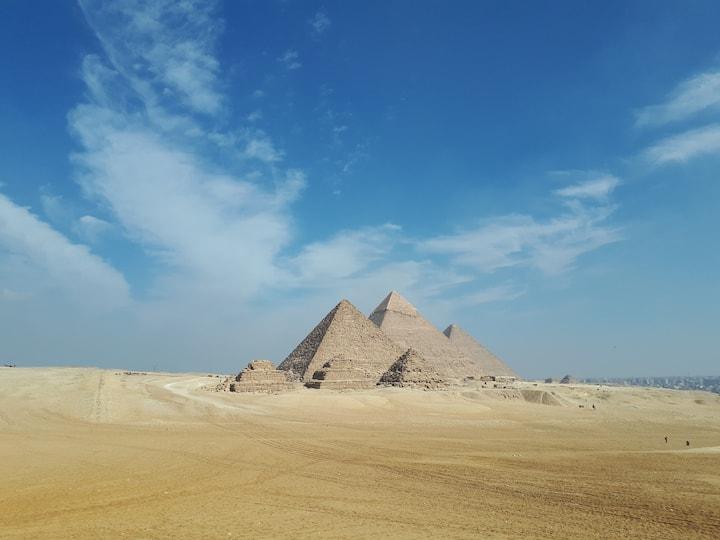 """""""SOLEMN PYRAMIDS"""" - next to the Giza Pyramids"""