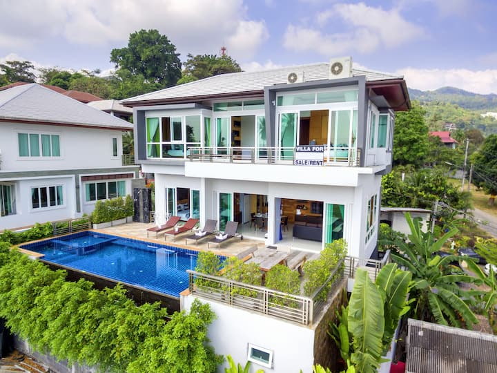 New Seaview Luxury Pool Villa Near Beach