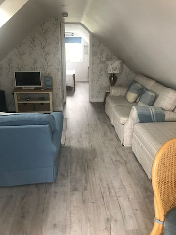 Beach themed loft annexe for 1-3 adult guests.