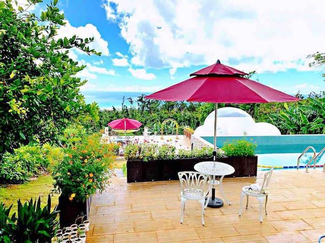 布鲁森花园BLOSSOM GARDEN/私人泳池/24小時高級管家服務/每日免費早餐/勿忘我大床房