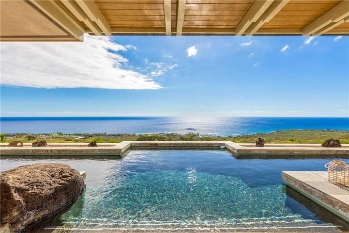 Watch Rain Fall Inside Your Home Into The Central Water Feature. Amazing Entry Across An Indoor Pond. Private Pool. Expansive Direct Ocean Views. - Waterfall House