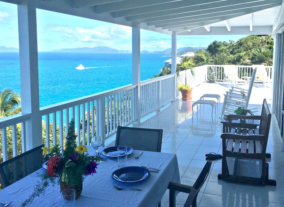 Veranda looking toward British Virgin Islands