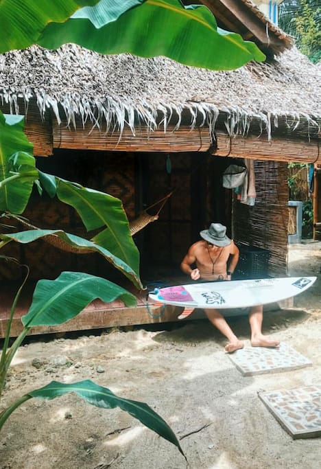 A surfer's homestay in Siargao. Wax in, wax out... (repeat) Photo by: Amy Addo (@amyaddo)