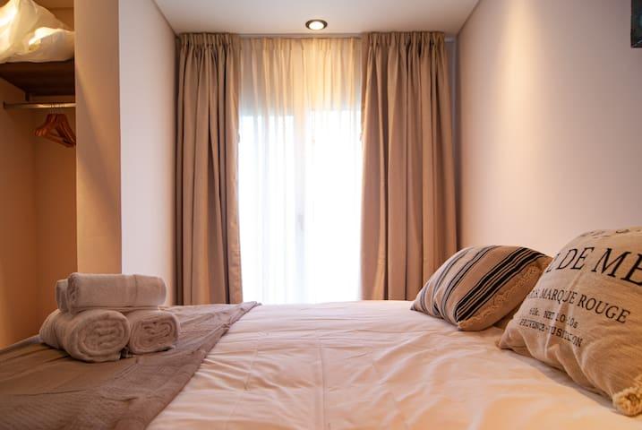 Dormitorio 1: se puede armar con una cama king o dos camas individuales