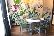 Wall mural painted by my husband and me : )