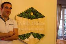 La Villa D'Helene Chambre Lit king size mountain