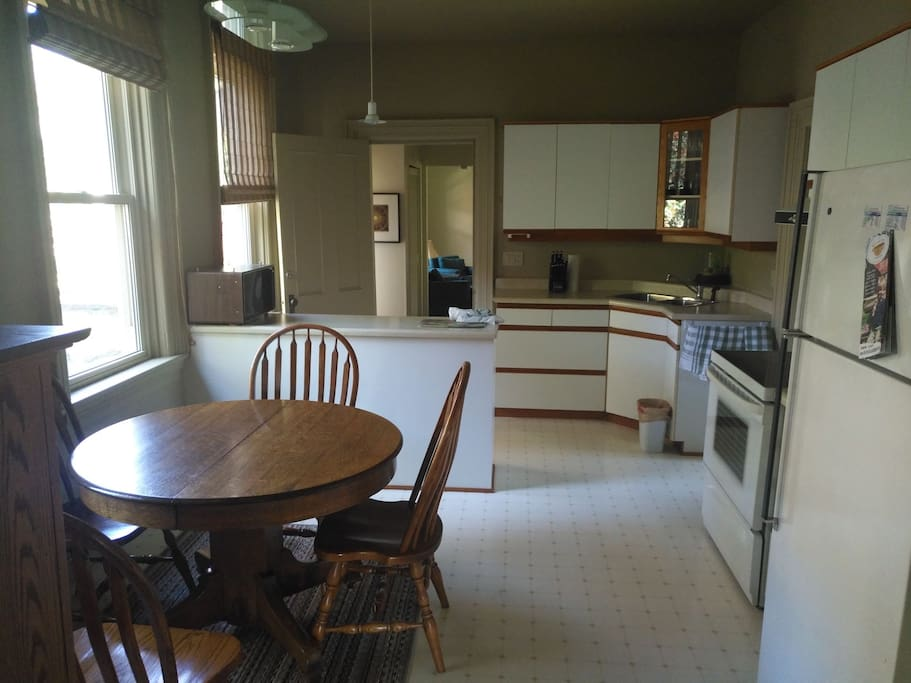 Shared secured kitchen with all the amenities.