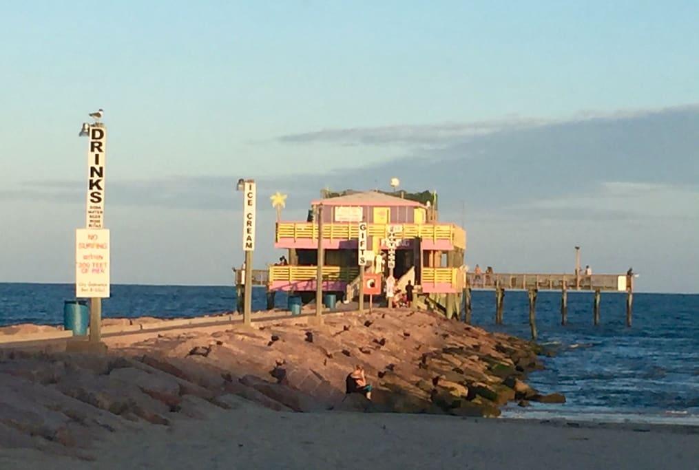 Fishing pier, right across the street.