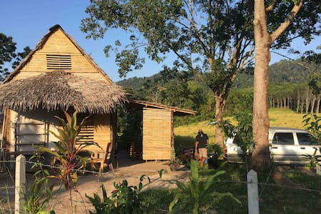 Private Bamboo Bungalow wit kitchen beautiful view