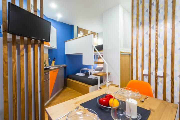 Семейные апартаменты-студия Toma Doma до 6 человек