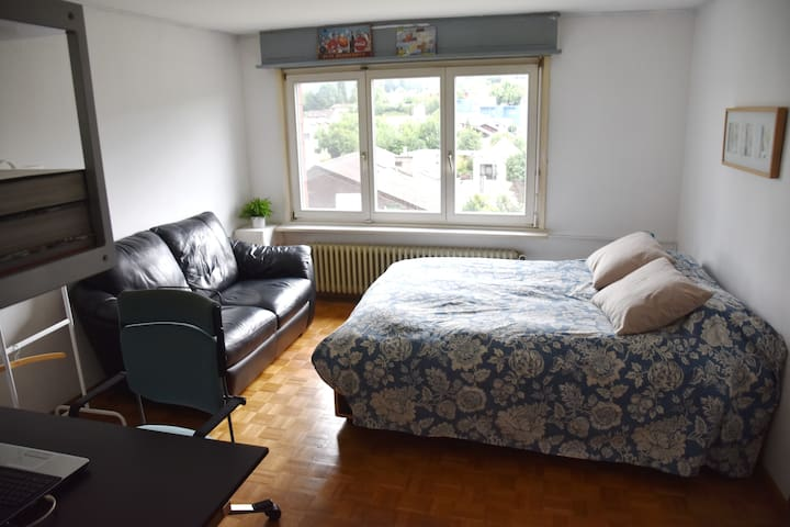 Two rooms with private bathroom near Basel