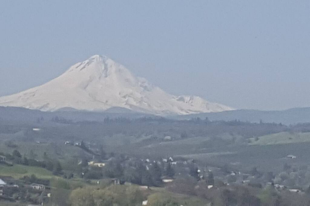 Mt. Hood on a gorgeous clear day from the front porch