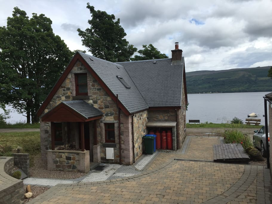 View from patio area to loch