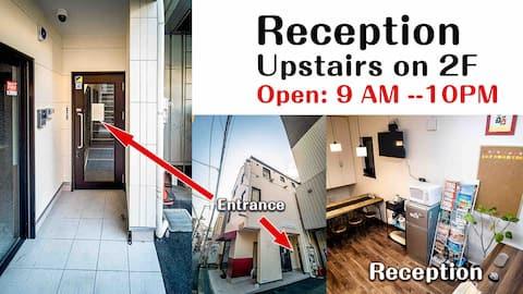 #Travel Room. 8 people room in Osaka Namba.