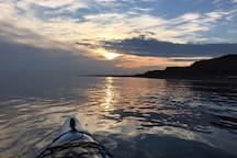 Belle fin de journée sur la Baie