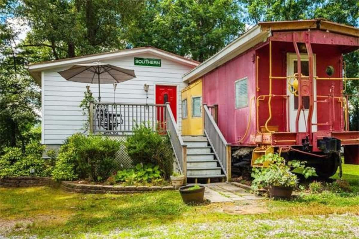 Unique caboose Airbnb in Asheville