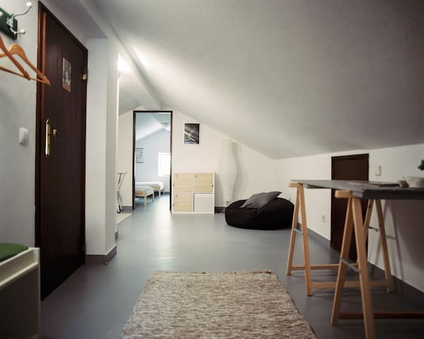 Flora's dorm - living room