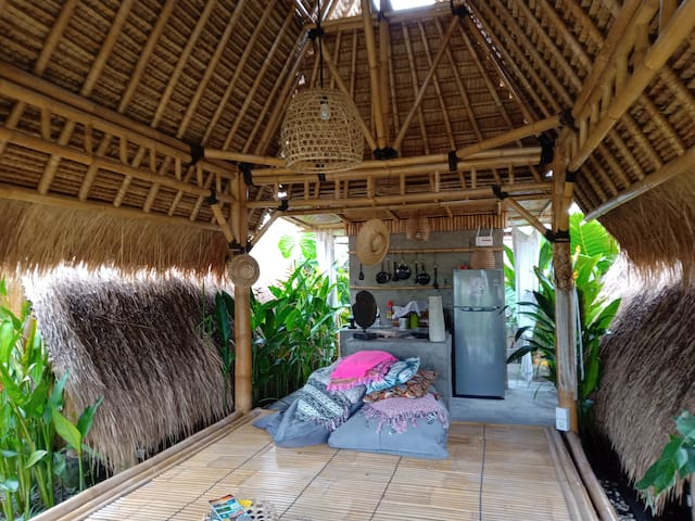 Bamboo hut ❤️ reconnect with nature