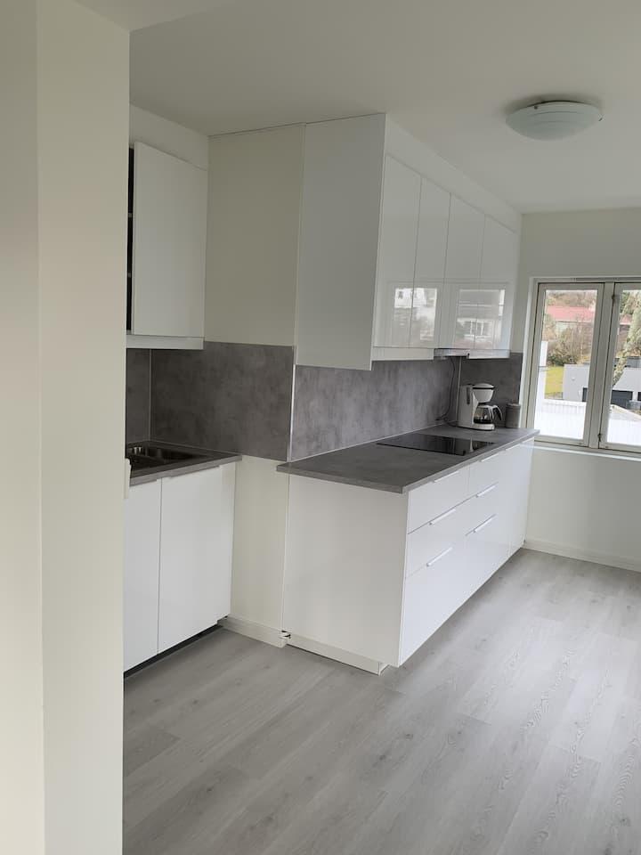 Stor lys leilighet nær Stavanger sentrum 87m2