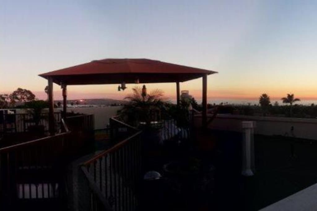 roof deck view of sunset