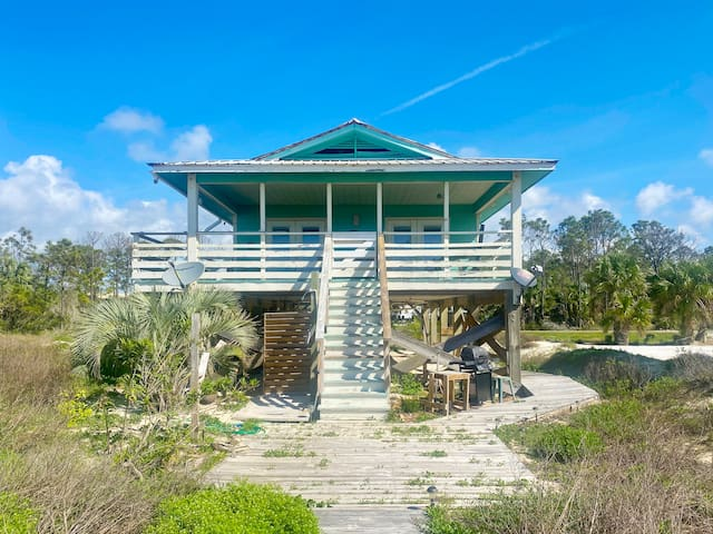 Gulf Front Single Family, Pet Friendly Home with Great Deck on Indian Pass - Pelican Bend