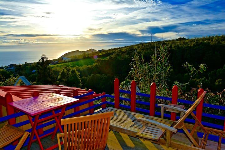 Casa Piri Piri unique cabin Azores - Ginetes - Houten huisje