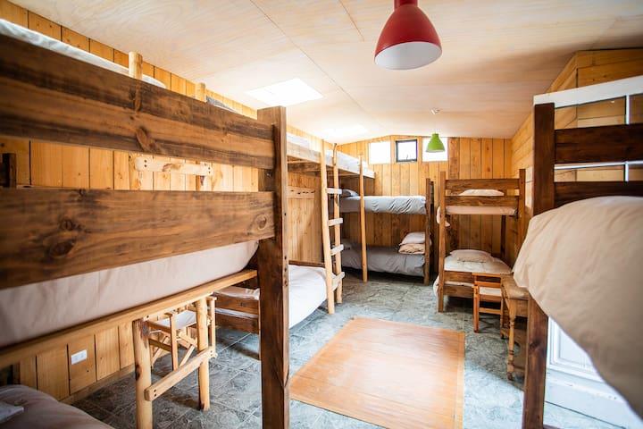 Habitación compartida Hostal Aldea Puertecillo