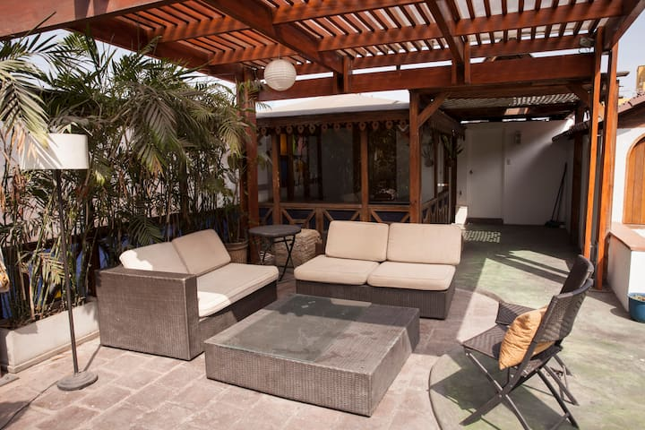 The bedroom is beside this amazing terrace that you are more than welcome to enjoy!