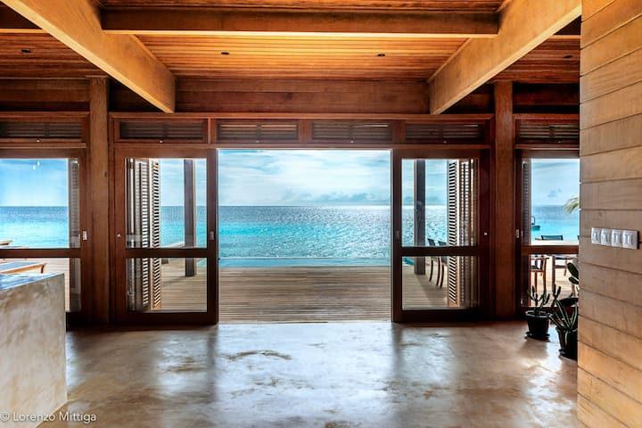 Large Eco Beach House 3 sleeps 8 ON THE BEACH