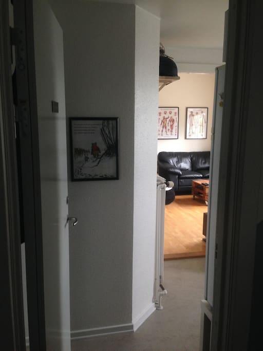 Lejligheden, set fra hoveddøren.