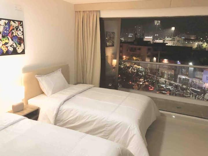 Suite Junior, con hermosa vista de barranquilla