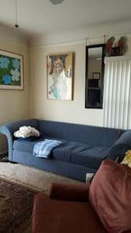 Foldout couch in front room - Long Beach - Departamento