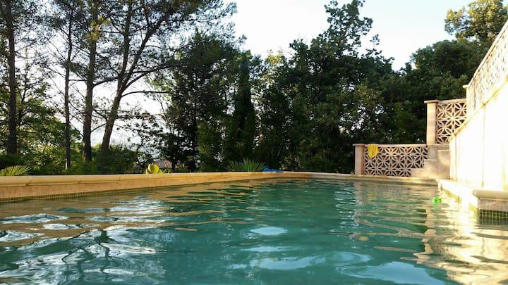 Petit coin de paradis piscine et plage à pied