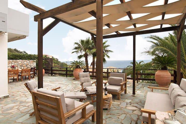 Villa with stunning seaview in Skala