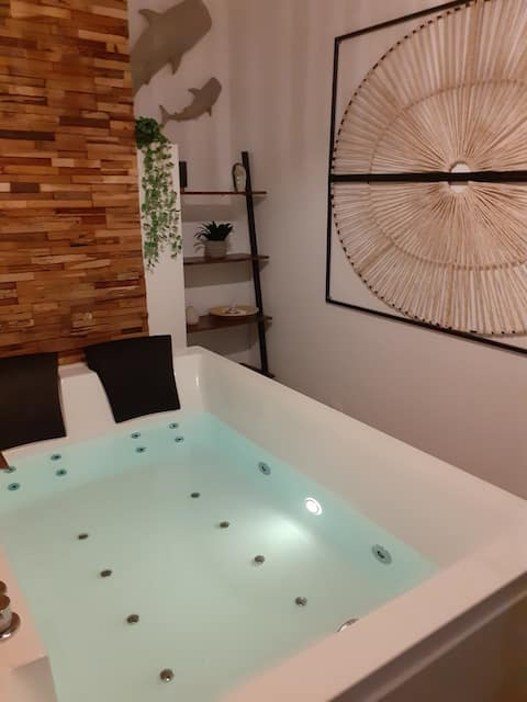 LOVE ROOM  OUT OF TIME  *JACUZZI* JARDIN PRIVATIF*