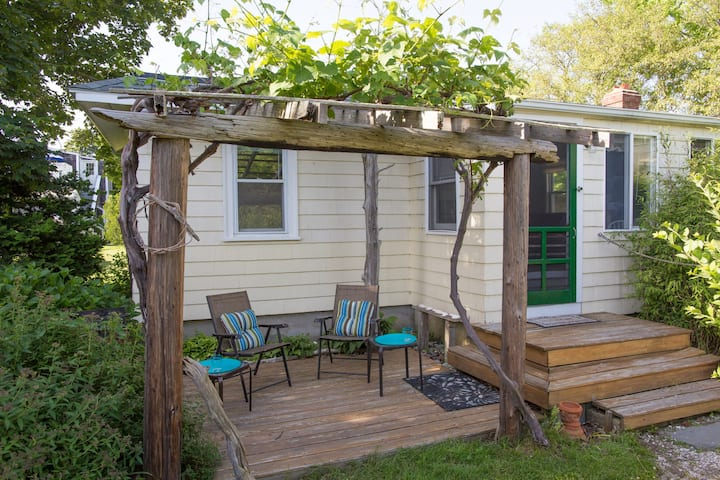 Beach cottage in garden setting. You will love it!