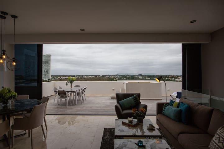 Impresionante penthouse en zona norte de Mérida