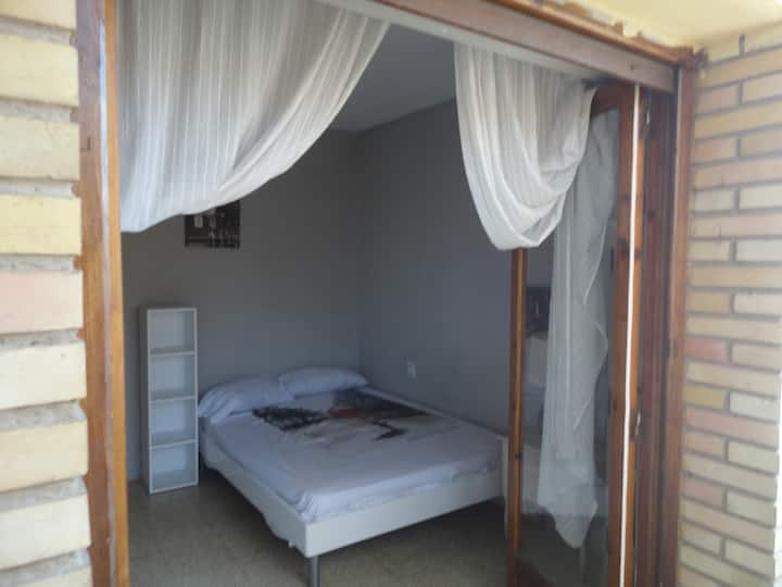 Double room with private balcony.