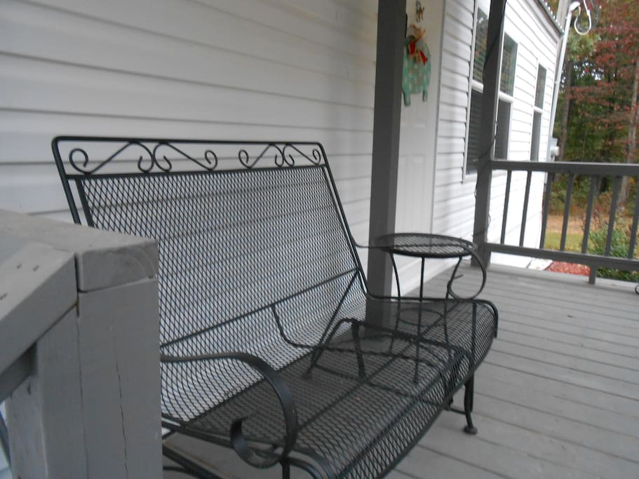Enjoy your morning coffee on the porch.