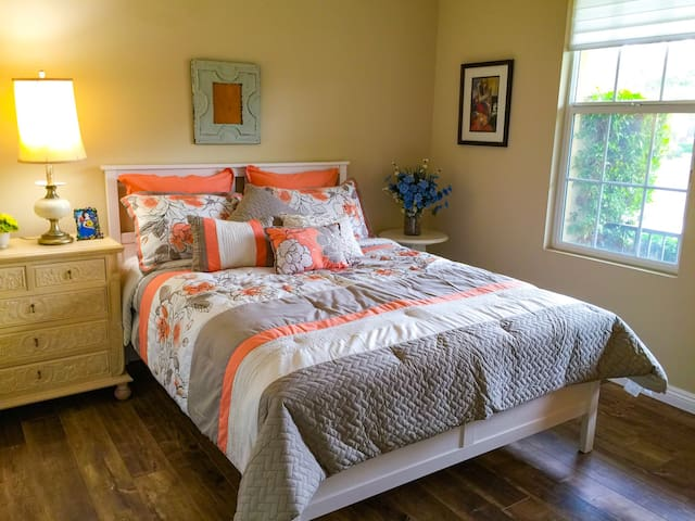 Comfy bedroom with private bathroom