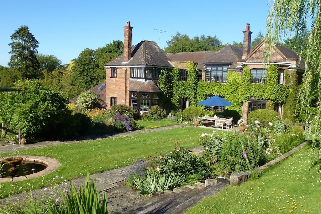 House & formal garden