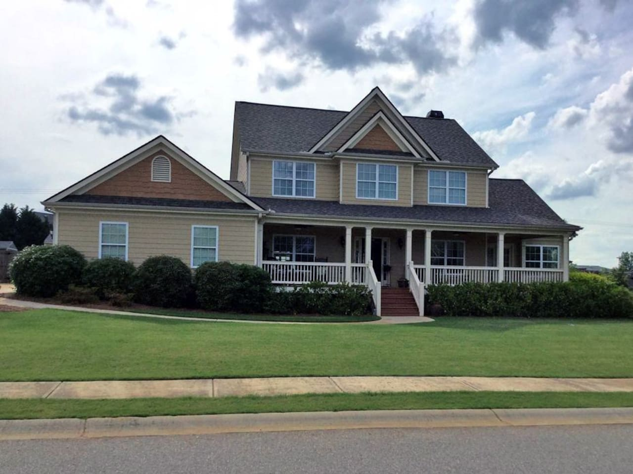 All the comforts of home and benefits of vacation await you in a friendly neighborhood setting with wrap-around front porch and landscaped backyard with pool. Rent a room or two, have the house to yourself or let us host you!