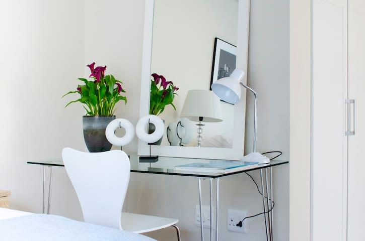 A desk area
