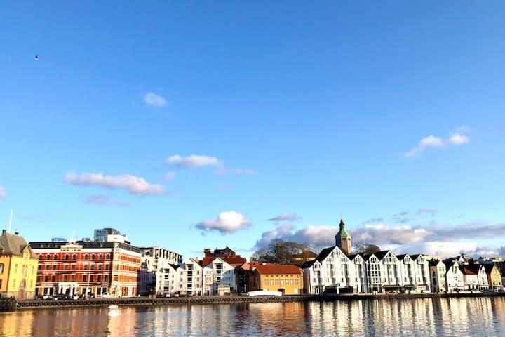 Magical view Stavanger city centre -high standard!
